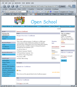 Old Open School Theme Screenshot